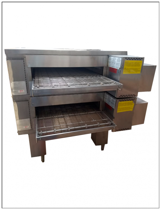 par de hornos de banda para pizza