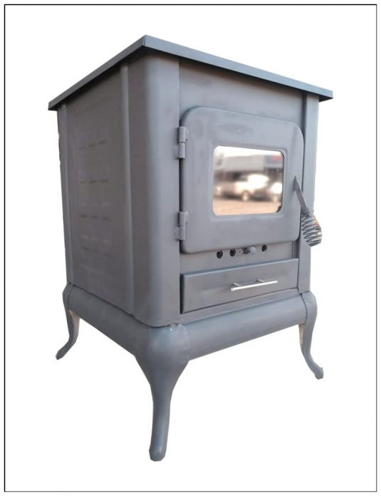 chimenea leña gavilan puerta vidrio